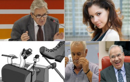 Jueces acusados de corrupción ante el CGPJ, control de los medios, Alfonso Guerra y Cayo Lara dicen adiós y el tercer hombre de Olga María
