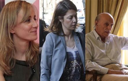 Los imputados Tania Sánchez (IU), Salvador Victoria y Lucía Figar (PP). Entrevista con Trevijano